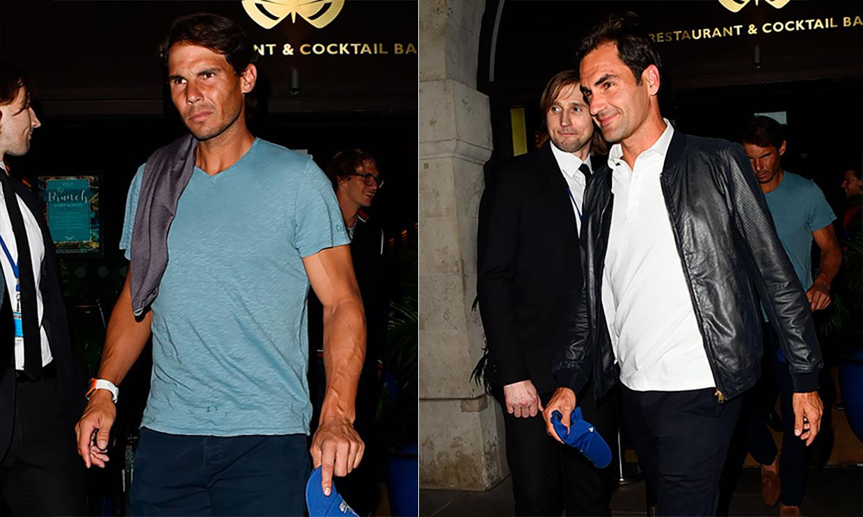 Rafa Nadal invita a su 'gran rival' Roger Federer a su restaurante en Londres