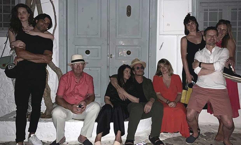 Diego Osorio de vacaciones con Jordan Joy Hewson y su 'suegro', Bono, líder de U2