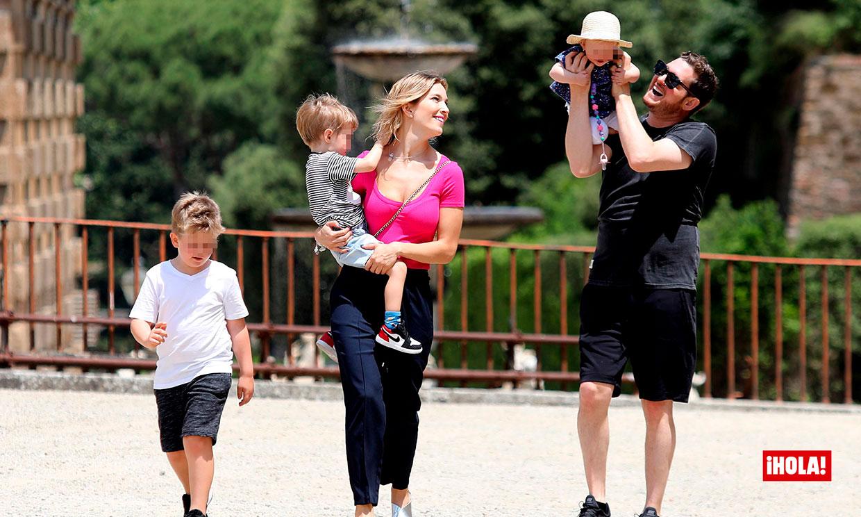 EXCLUSIVA: Las románticas vacaciones Michael Bublé y Luisana Lopilato con sus hijos en Florencia