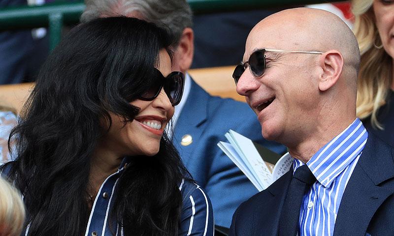 ¡Ya no se esconden! Jeff Bezos y Lauren Sanchez se dejan ver juntos por primera vez en Wimbledon