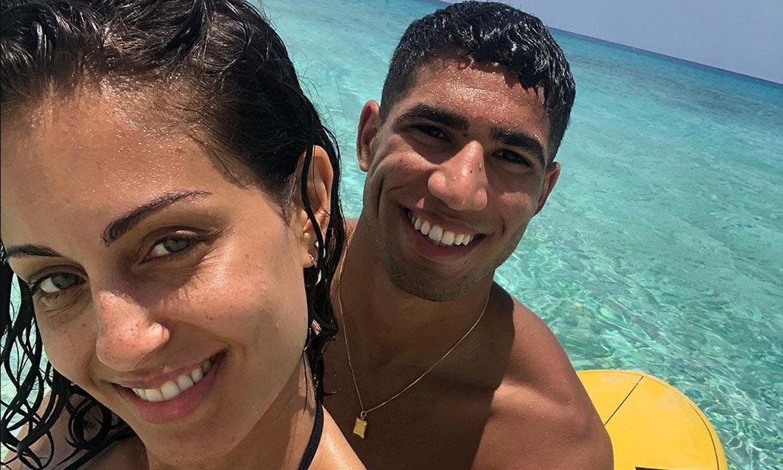 De Nueva York a las Bahamas: las movidas vacaciones de Hiba Abouk y Achraf Hakimi