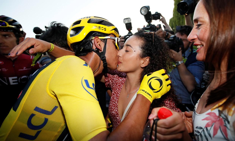 Así es Xiomy Guerrero, el talismán del campeón del tour de Francia, Egan Bernal