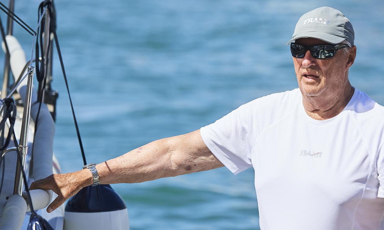Harald V de Noruega ya está en Palma para participar en la Copa del Rey MAPFRE de Vela