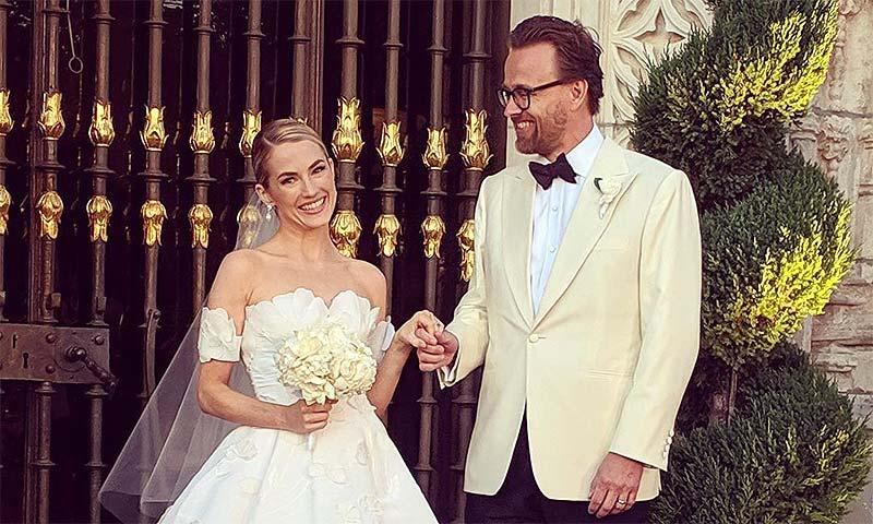 Amanda Hearst, ex de Luis de Medina, se casa en una romántica ceremonia con Joachim Rønning