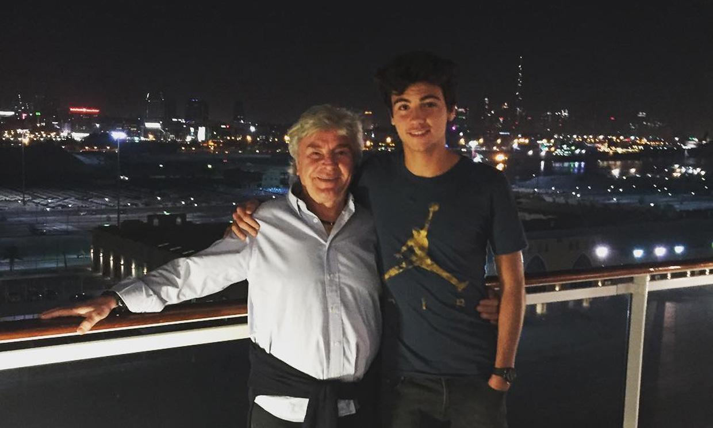 Fotogalería: así es Hugo, el hijo tenista de Ángel Nieto que ya tiene 18 años