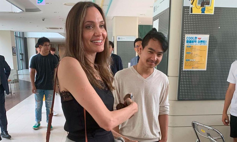 La emoción de Angelina Jolie en el primer día de Maddox en la Universidad