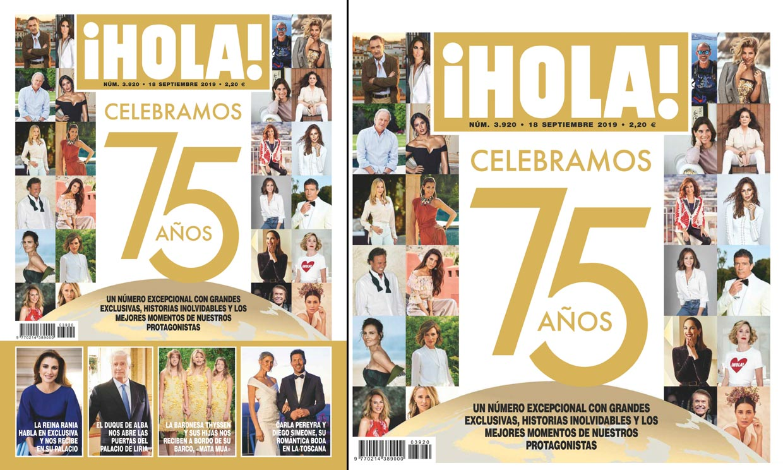 En ¡HOLA!, celebramos 75 años con un número excepcional con grandes exclusivas, historias inolvidables y los mejores momentos de nuestros protagonistas