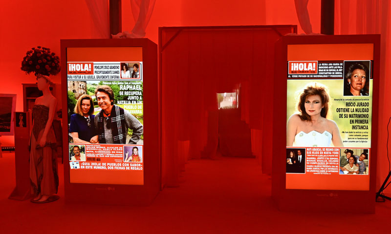 La Casa ¡HOLA! recorre los 75 años de historia de la revista con las grandes portadas que dieron la vuelta al mundo