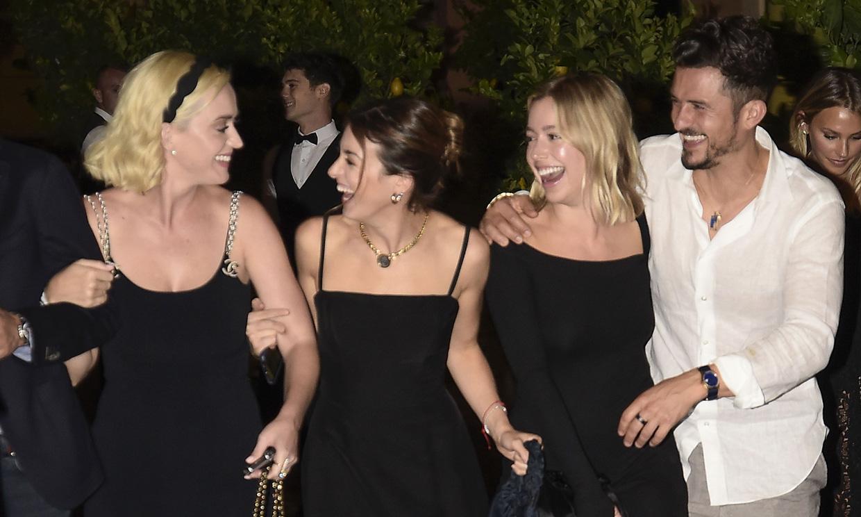 Katy Perry con Orlando Bloom, Karlie Kloss... se divierten en la preboda de Misha Nonoo en Roma
