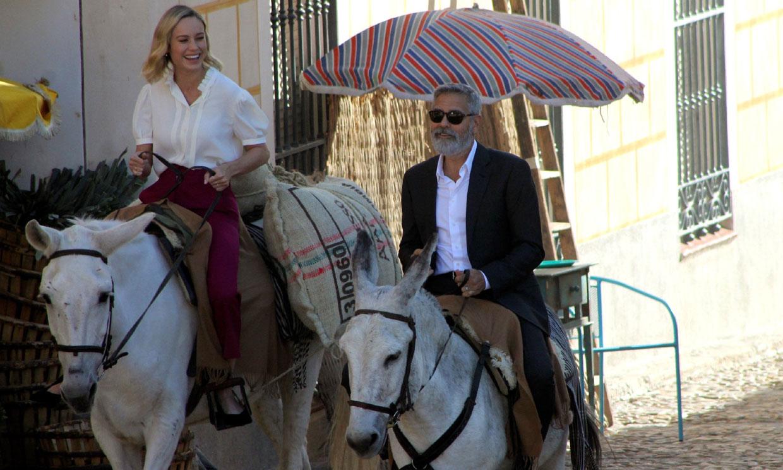 George Clooney, a lo Sancho Panza, en Navalcarnero
