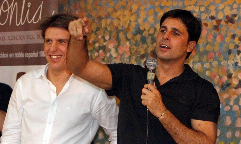 Francisco Rivera y Manuel Díaz 'el Cordobés' mano a mano en el cumpleaños de la chef Pepa Muñoz