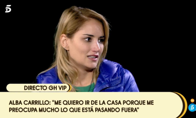 Alba Carrillo tira la toalla: 'Estoy muy mal de autoestima'