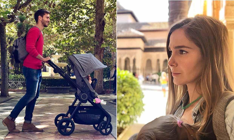En carrito o mochila, Natalia Sánchez y Marc Clotet descubren Granada con Lía