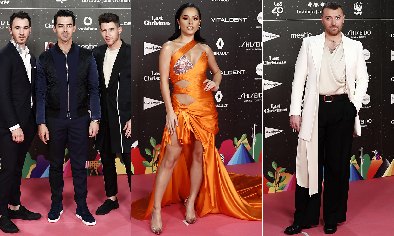 Becky G, Sam Smith, los Jonas Brothers... la alfombra roja más internacional de Los40 Music Awards
