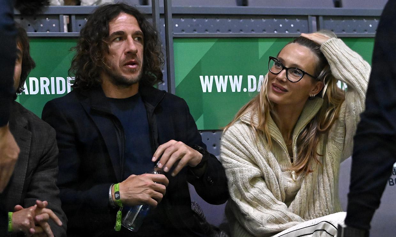 Carles Puyol y Vanesa Lorenzo, Helen Lindes y Rudy Fernández... tarde de parejas en la Copa Davis