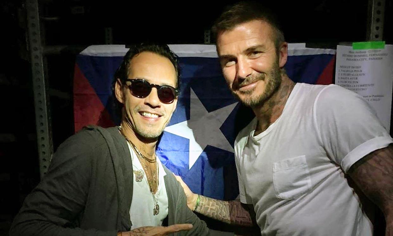David Beckham sorprende compartiendo escenario con Marc Anthony en un concierto