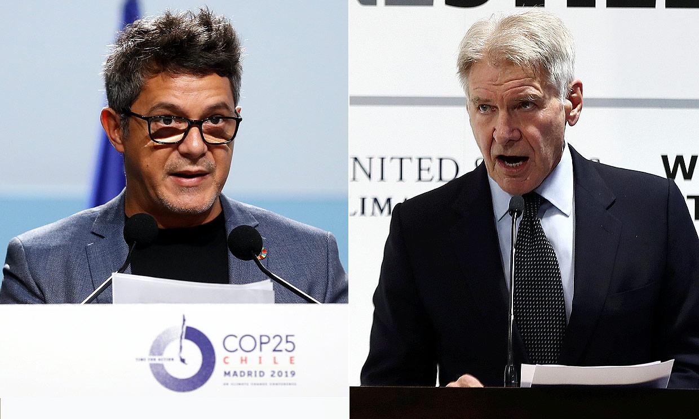 'Es la única manera': Alejandro Sanz y Harrison Ford, contra el cambio climático en Madrid