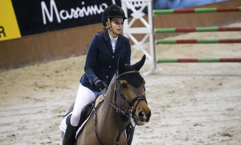 Athina Onassis, Cayetano Martínez de Irujo y Marta Ortega, en el concurso de saltos de A Coruña