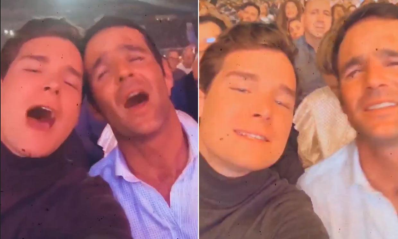 José Bono Jr y Aitor Gómez se divierten en familia durante el concierto de Raphael