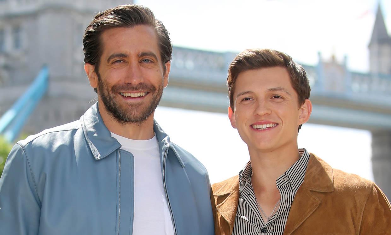 La extraña pareja: Tom Holland y Jake Gyllenhaal comparten entre bromas y piropos su momento más 'tierno'
