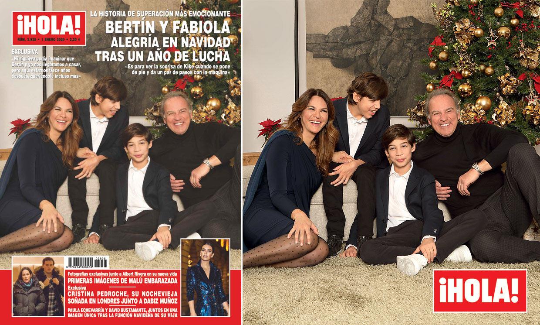 Exclusiva en ¡HOLA!, Bertín y Fabiola, alegría en Navidad tras un año de lucha