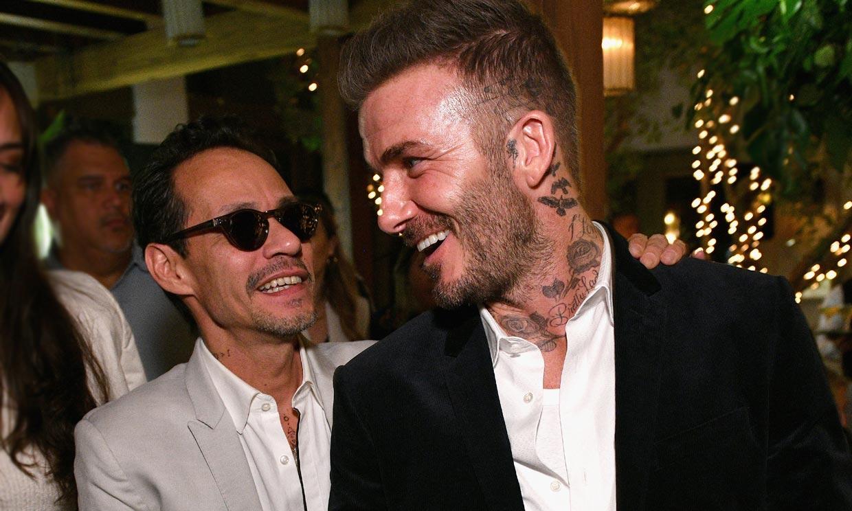 ¡Los reyes de la fiesta! El divertido baile de David Beckham y Marc Anthony