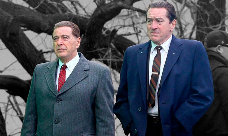 El rejuvenecimiento de Robert de Niro y Al Pacino en 'El irlandés', película con 5 nominaciones a los Globos de Oro