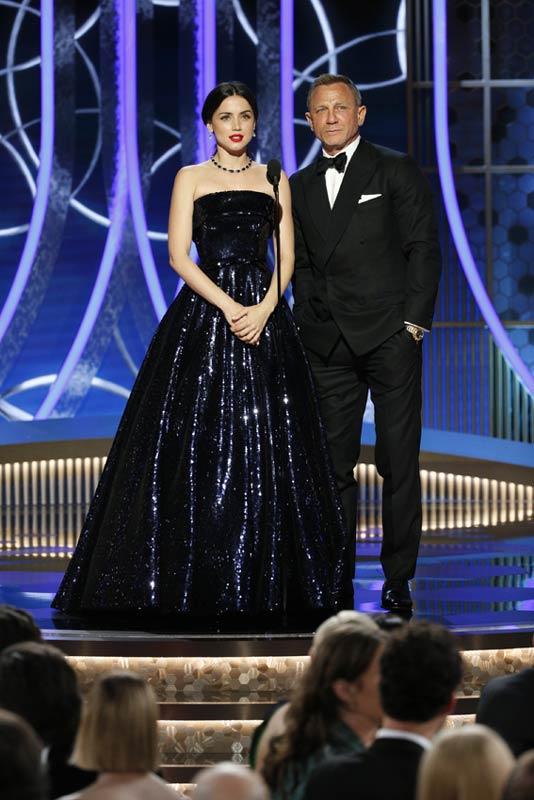 Ana de Armas and Daniel Craig at the Golden Globes