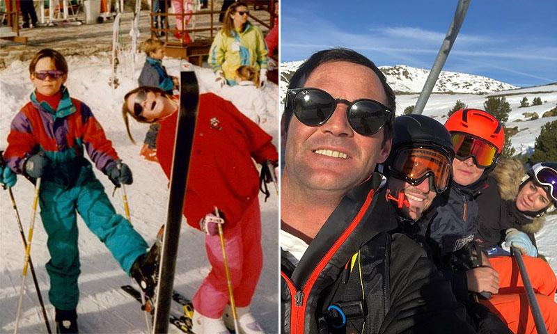 José, Amelia y Ana Bono disfrutan de la nieve en familia... ¡como cuando eran niños!