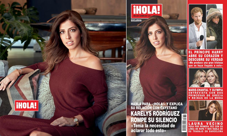 Exclusiva en ¡HOLA!, Karelys Rodríguez rompe su silencio: 'Tenía la necesidad de aclarar todo esto'