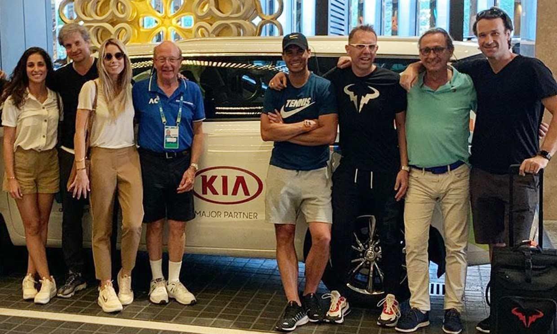 La foto de familia de Rafael Nadal y Mery Perelló para despedirse de Australia