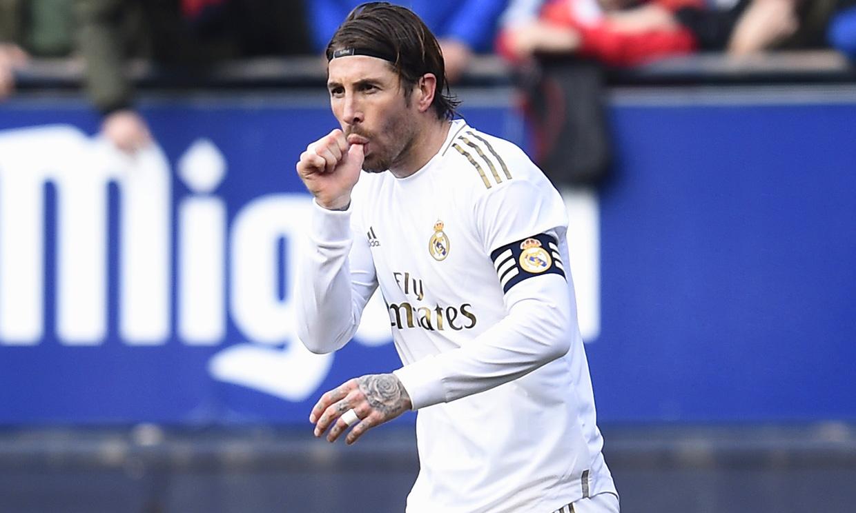 El gesto con el que Sergio Ramos dedicó un gol al bebé que viene en camino