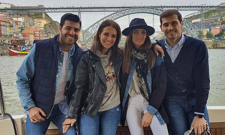 Paula Echevarría y Miguel Torres, con Iker y Sara, sus 'perfectos anfitriones' en Oporto