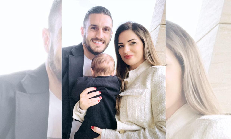 El hijo de Koke y Beatriz Espejel cumple dos meses ¡y ya 'habla'!