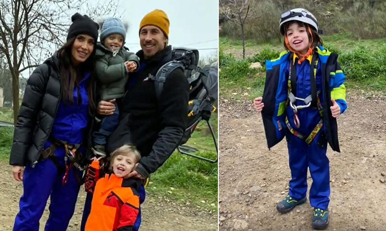 La aventura a lo Indiana Jones de Sergio Ramos y Pilar Rubio con sus hijos