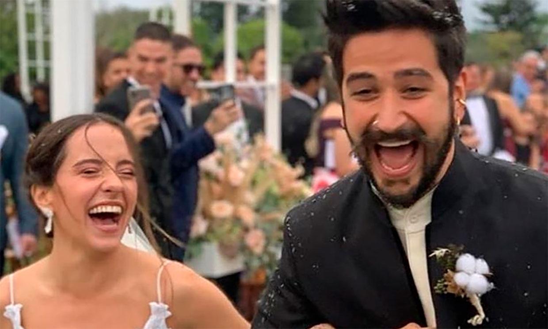 La divertida y romántica boda del cantante Camilo y Evaluna Montaner al ritmo de 'Tutu'
