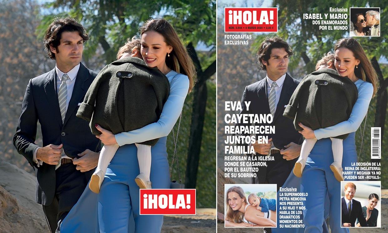 Fotografías exclusivas en ¡HOLA!, Eva González y Cayetano Rivera reaparecen juntos en familia
