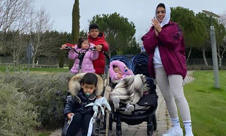 Naturaleza y ejercicio, el plan familiar de Georgina Rodríguez en su regreso a Madrid