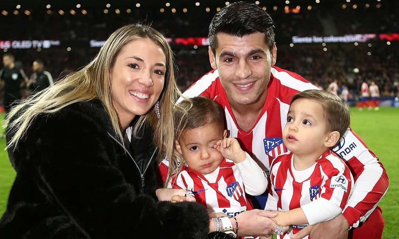 La efusividad de uno de los hijos de Alice Campello y Álvaro Morata cuando ve a su papá meter gol
