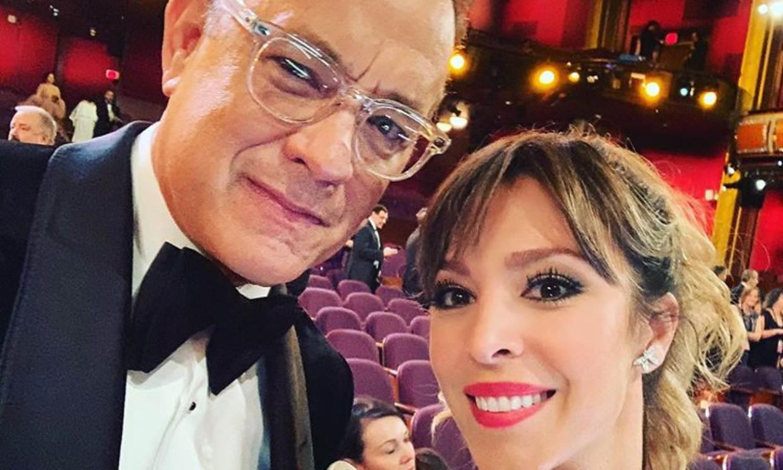 Gisela rescata una foto de los Oscar para enviar un mensaje a Tom Hanks, aislado por coronavirus