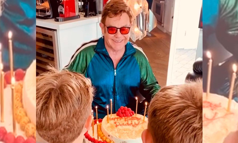 ¡Cómo han crecido! Los hijos de Elton John cantan a su padre por su cumpleaños