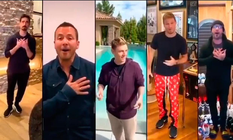 Los Backstreet Boys arrasan con su actuación desde casa