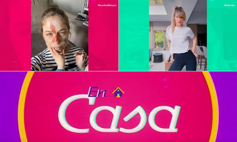 Martina Klein muestra su peculiar tutorial de maquillaje y Edurne saca su lado sexy en esta entrega de 'En casa'