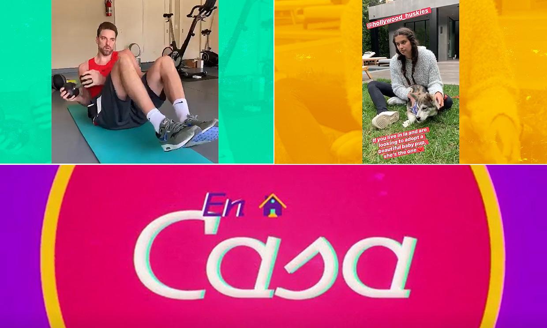 Sara Sampaio disfruta con su mascota y Pau Gasol cambia el balón por las pesas en el capítulo de 'En casa'