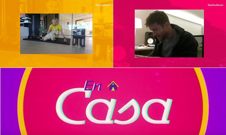 Pablo Alborán no para de trabajar ni Jesús Calleja de entrenar en este episodio de 'En casa'