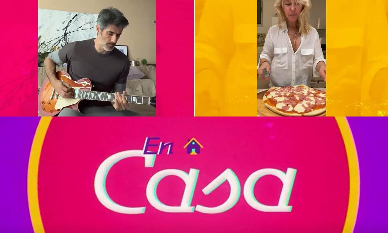 Jorge Fernández muestra su lado musical y Valeria Mazza sus dotes de cocinera en este capítulo de 'En casa'