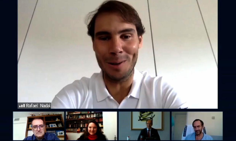 Rafael Nadal anima a los enfermos de COVID-19 con una entrañable videollamada sorpresa