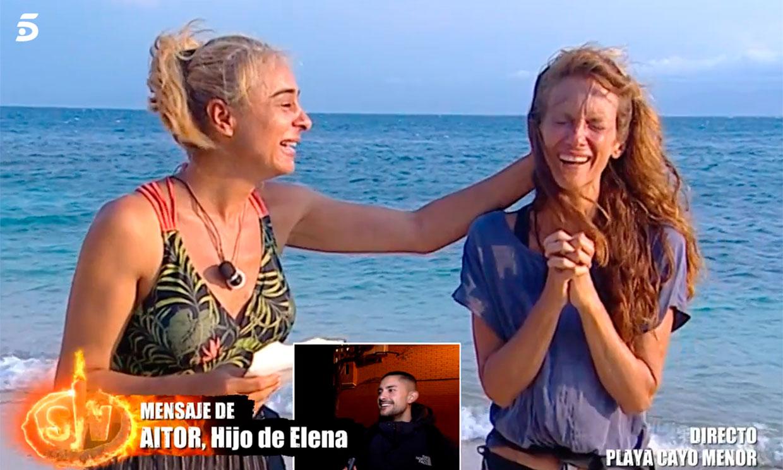 Elena rompe a llorar gracias a la sorpresa de su hija Adara: '¡Qué regalo me acabas de hacer!'
