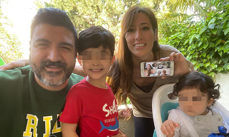 Las imágenes más tiernas de Tony Aguilar en su cumpleaños con su mujer y sus dos hijos