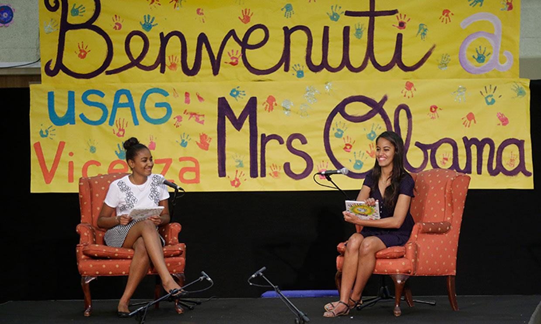 Malia y Sasha hablan por primera vez del trabajo de su madre, Michelle Obama